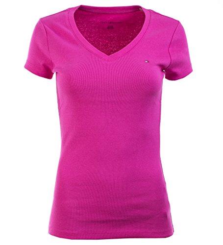 Tommy Hilfiger Damen V-Neck Shirt T-Shirt pink Größe S