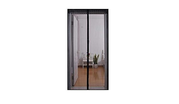 ERTY - Puertas magnéticas con Pantalla para Mantener los Insectos Fuera, Permite Entrar Aire Fresco, Color Negro, 110 x 220 cm, Negro, 140 * 220cm: Amazon.es: Hogar