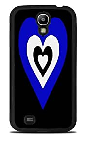 Blue & White Heart in a Heart Black Silicone Case for Samsung Galaxy S4 by icecream design