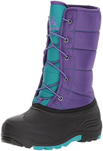 Image of Kamik Girls' Cady Snow Boot, Purple/Teal, 4 Medium US Big Kid