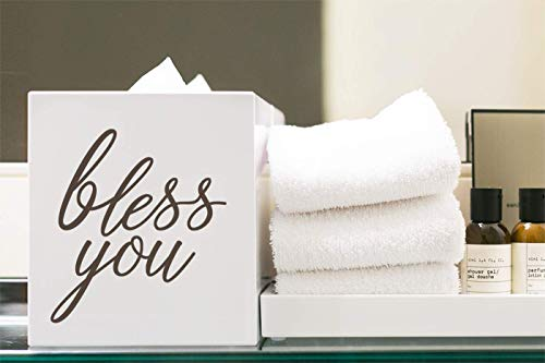 Story of Home LLC Bless You Tissue Box Cover Vinyl Decal Bathroom -