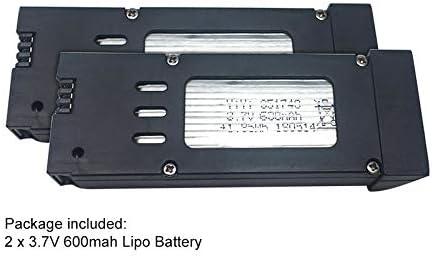 9imod 2PCS E58 LiPo Battery 3.7V 600mah 3.7V Drone Batterys RC Quadcopter Spare Part