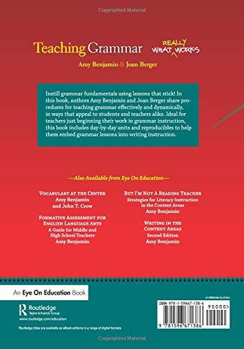 Teaching Grammar: Amazon co uk: Amy Benjamin, Joan Berger