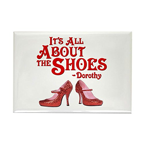 CafePress - It's All About The Shoes - Dorothy - Wizard of Oz - Rectangle Magnet, 2