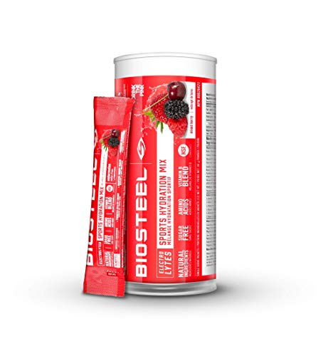 Biosteel High Performance Sports Drink Powder, Naturally Sweetened with Stevia, Mixed Berry, 12 To-Go Packets