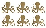 """Octopus Shape Unfinished Wood Craft Cut Outs 3"""" Inch 6 Pieces OCT01-06 offers"""