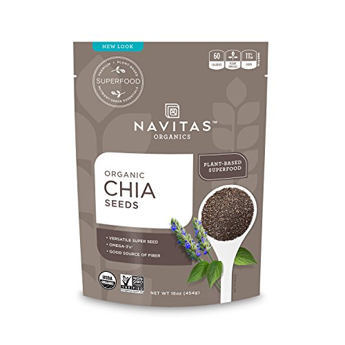 Price comparison product image Navitas Organics Chia Seeds,  16 oz. Bag — Organic,  Non-GMO,  Gluten-Free