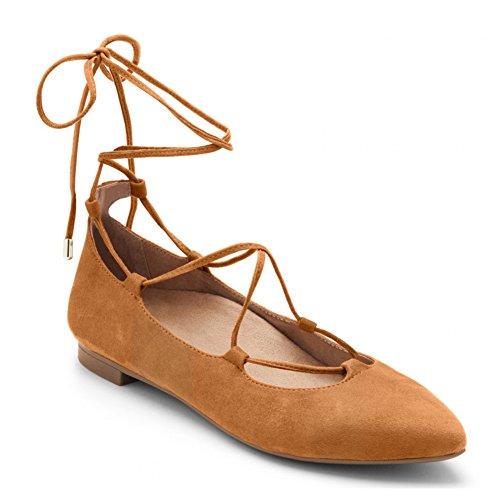 Ballet up Lace Flat Caramel Gem Vionic Lucinda Womens qwt6nXSIZ