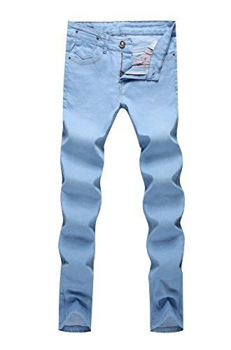 AmorGafas Mens Fit Slim Straight Stretch Denim Jeans