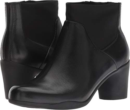 CLARKS Womens Un Rosa Mid Boot, Black Leather, Size 9.5 ()