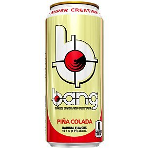 Bang Energy Drink with Zero Calories & High Caffeine, Pina Colada - 12 Drinks - VPX (Vital Pharmaceuticals) from VPX