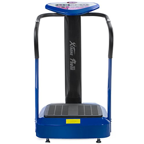 XtremepowerUS 2000W Slim Full Body Vibration Platform Exercise Crazy Fit Machine, Blue by XtremepowerUS