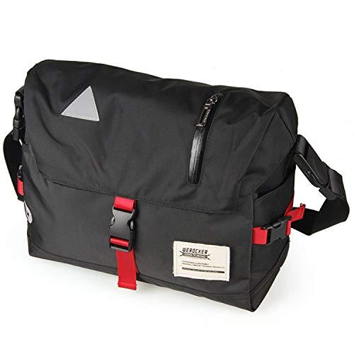 - OCCIENTEC Messenger Bags Water Resistant Satchel Shoulder Crossbody Sling Working Bag Bookbag Briefcase Fits 14 Inch Laptop for Men and Women-Black