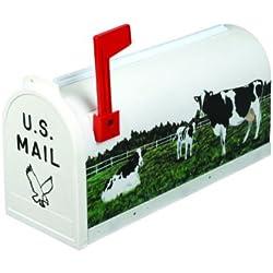 Flambeau T-RD-COW2 Scenic Decor Series Mailbox, Holstein Cows