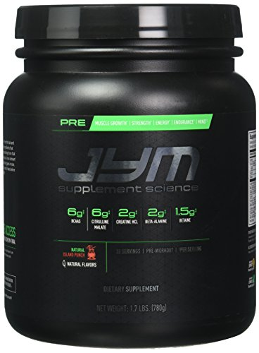 JYM Supplement Science, PRE JYM, Natural Island Punch, Pre-Workout with BCAA's, Creatine HCl, Citrulline Malate, Beta-alanine, Betaine, Alpha-GPC, Beet Root Extract and more, 30 Servings (Creatine Fuel Pump)