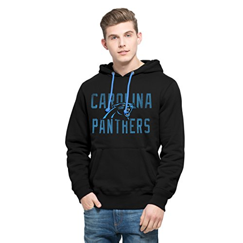 NFL Carolina Panthers Men's '47 Cross-Check Pullover Hoodie, Large, Jet Black