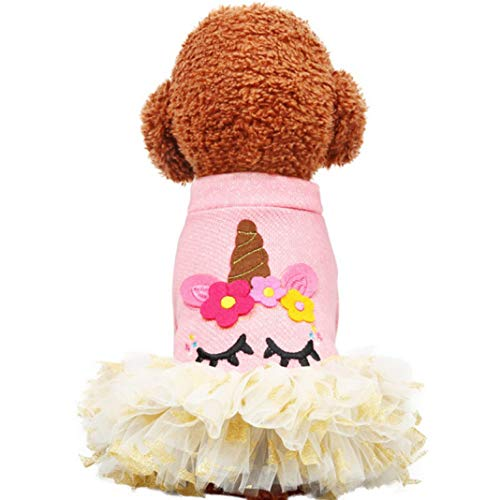 Jim-Hugh Pet Dog Cute Princess Dress Bow Skirt Clothes Roupa Cachorro Disfraz Perro Cat Dresses for Small Dogs -