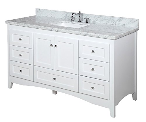 Federation Vanities For Bathrooms: Kitchen Bath Collection KBC38601WTCARR-S Abbey Single Sink