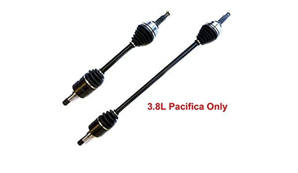 Drive Axle Assembly DTA DC27592760 Front Left Right Pair 2 New Premium CV Axles 2007-2008 Chrysler Pacifica with 3.8L Engine Only