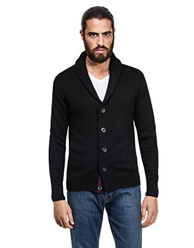 413ffd12bd86 Vincenzo Boretti Men s Cardigan Chunky Knit Shawl Collar - Import It All