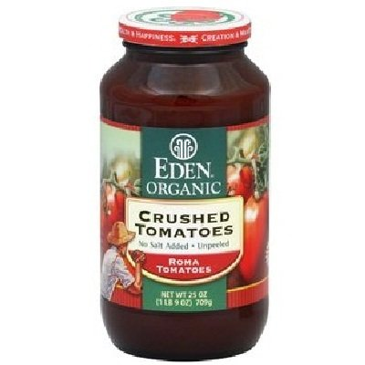 Eden Foods Crushed Tomatoes No Salt Organic 25 Oz (Pack of 12) by Eden