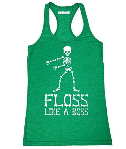 (Floss Like A Boss Funny Dance Halloween Women's Tank Top, L, H.)