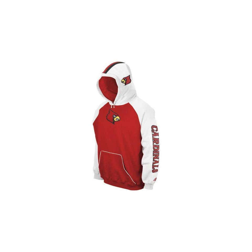 adidas Louisville Cardinals Red Helmet Hoody Sweatshirt