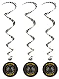 3 Racing Tyres Whirls Hanging Decoration