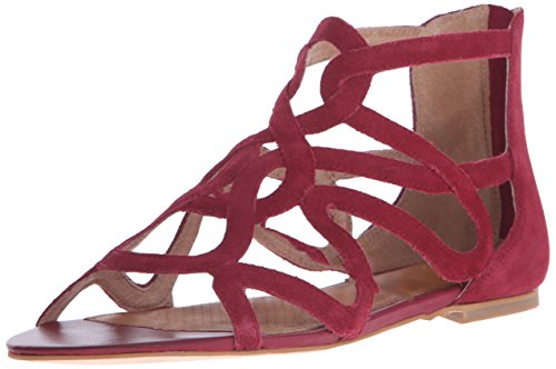 Corso Como Women's Surrey Dress Sandal, Red Split Suede, 6 M US