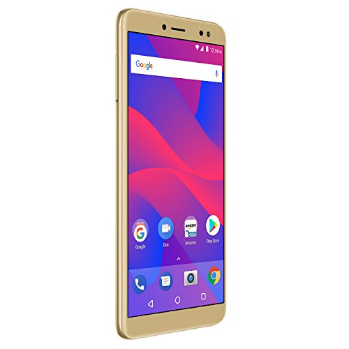 """- BLU Vivo XL3 -5.5"""" HD+ 18:9 Display Smartphone with Android 8.0 Oreo –Gold"""
