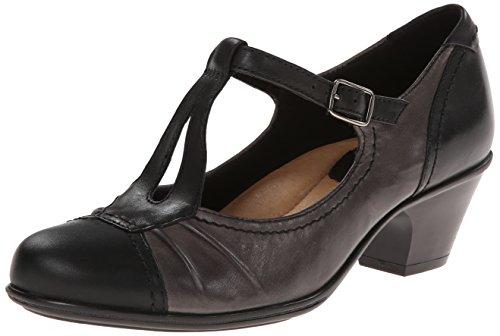Calf Leather Pump Shoes (Earth Women's Wanderlust Dress Pump,Black Calf Leather,7.5 M US)