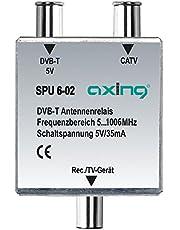 Axing SPU 6-02 DVB-T/BK-antenne-relais schakelaar voor kabeltelevisie en DVB-T2 HD