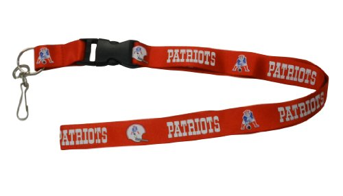 NFL New England Patriots Lanyard, Red - New England Patriots Key