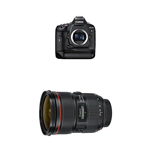 Canon EOS-1DX Mark II DSLR Camera and Canon EF 24-70mm f/2.8L II USM Standard Zoom Lens