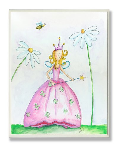 Little Princess Wall Plaque - The Kids Room by Stupell Fairy Princess Among Daisies Rectangle Wall Plaque