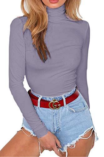 Almaree Womens Long Sleeve Rompers Fleece Lined Bodysuits Gray M