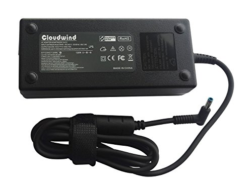Cloudwind 19.5V 6.15A 120W Replacement Slim AC Adapter for HP-Envy-Pavilion Touchsmart-Sleekbook 15 15t 17 M6 M7, Laptop AC Adapter Charger Power Cord.