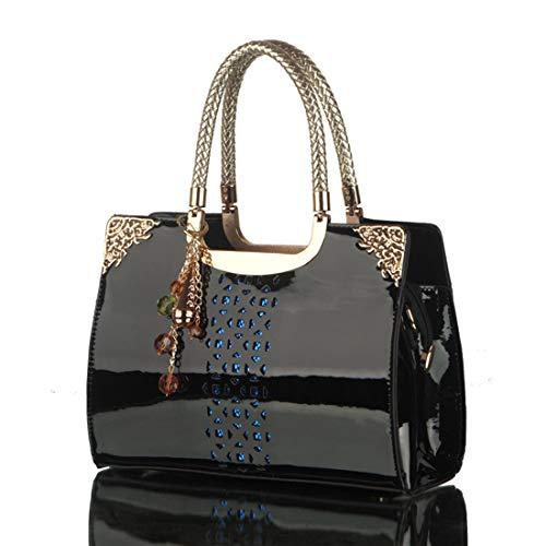 Bag Tide Yy3 Cuir Tote Slung Creux Main Black En Verni Épaule Femme Jessiekervin À Apricot Ladies Color Sac color SdvwqOOR