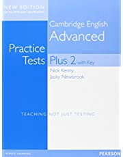 Cambridge Advanced Volume 2 Practice Tests Plus New Edition Students' Book with Key