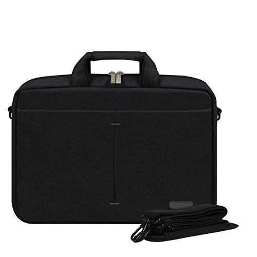ARVOK 15-16 Inch Laptop Bag Multifunctional Briefcase Water-Resistant Sleek Fabric with Handle and Shoulder Strap/Notebook Messenger Carrying Case, Black