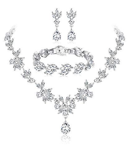 Florideco Wedding Bridal Jewelry Set...