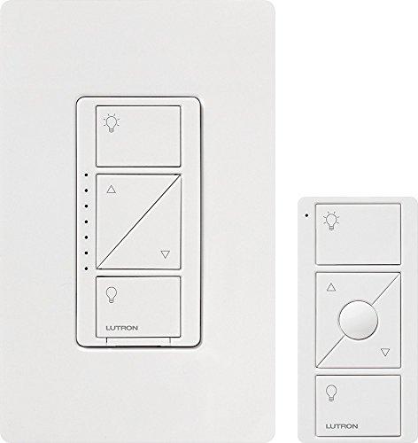 Lutron P-PKG1W-WH-R Caseta Wireless 150-Watt Multi-Location In-Wall Dimmer Kit w, (Pico Wireless Control)