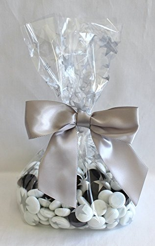 Silver Stars Cello Party Favor Treat Bags 5