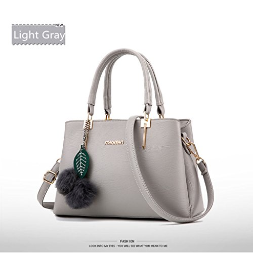 FK - Bolso mochila  para mujer gris claro