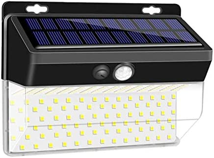 Epyz Solar Lights Outdoor 206 LED, Solar Security Lights, Motion Sensor Lights Wireless IP 65 Waterproof Wall Night Light with 3 Modes for Fence Garage Yard Step Stair [ Pack of 1 ]