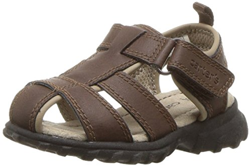 Toddler Fisherman Sandals (carter's Boys' Xtreme Fisherman Sandal, Brown, 6 M US Toddler)