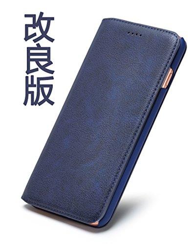 ビタミン若さアダルトTindon iPhone6s ケース iPhone6 ケース 手帳型 レザー 革 薄 アイフォン6s アイフォン6 ケース 手帳 おしゃれ アイホン6s ケース アイホン6 ケース スリム 人気 シンプル カード収納 スタンド マグネット スマホケース(ブルー)