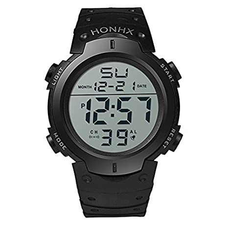 WMWMY Relojes Deportivos LED Fashion Mens Sports Watch Deportes acuáticos Fecha Military Watch Envío Digital de