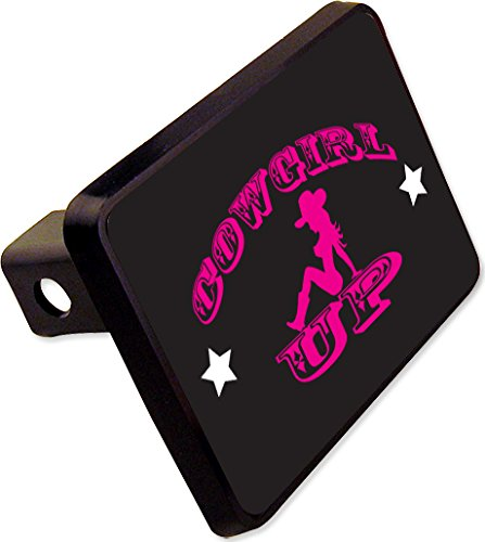 COWGIRL UP Trailer Hitch Cover Plug Funny State Novelty