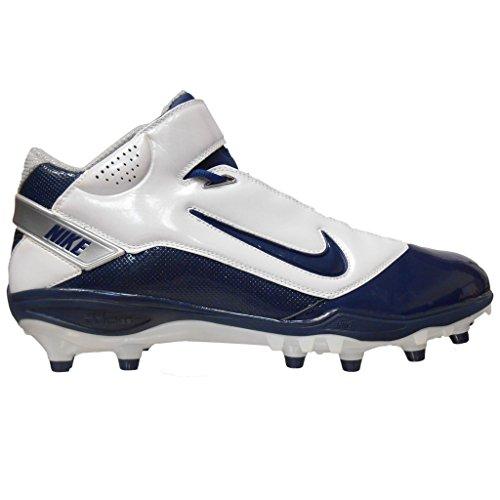Nike LT Super Bad TD Men's Football Cleats (15, White/Navy)